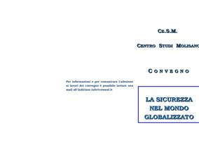 """Convegno """"La sicurezza nel mondo globalizzato"""" - 6 dicembre 2017"""
