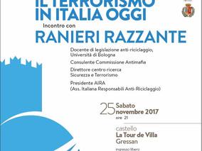 """Incontro """"Il terrorismo in Italia oggi"""" - 25 novembre 2017"""