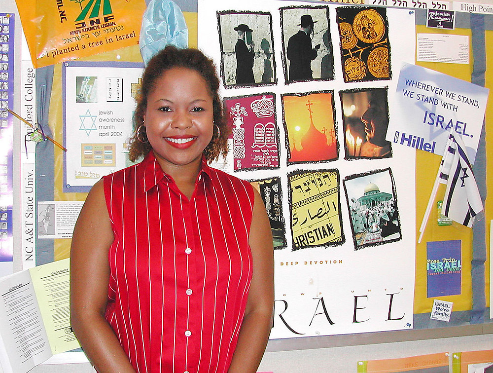 Yolanda Hairston, Hillel Director at UNCG office, 2004.