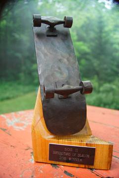 SOS II Skateboarding Trophy