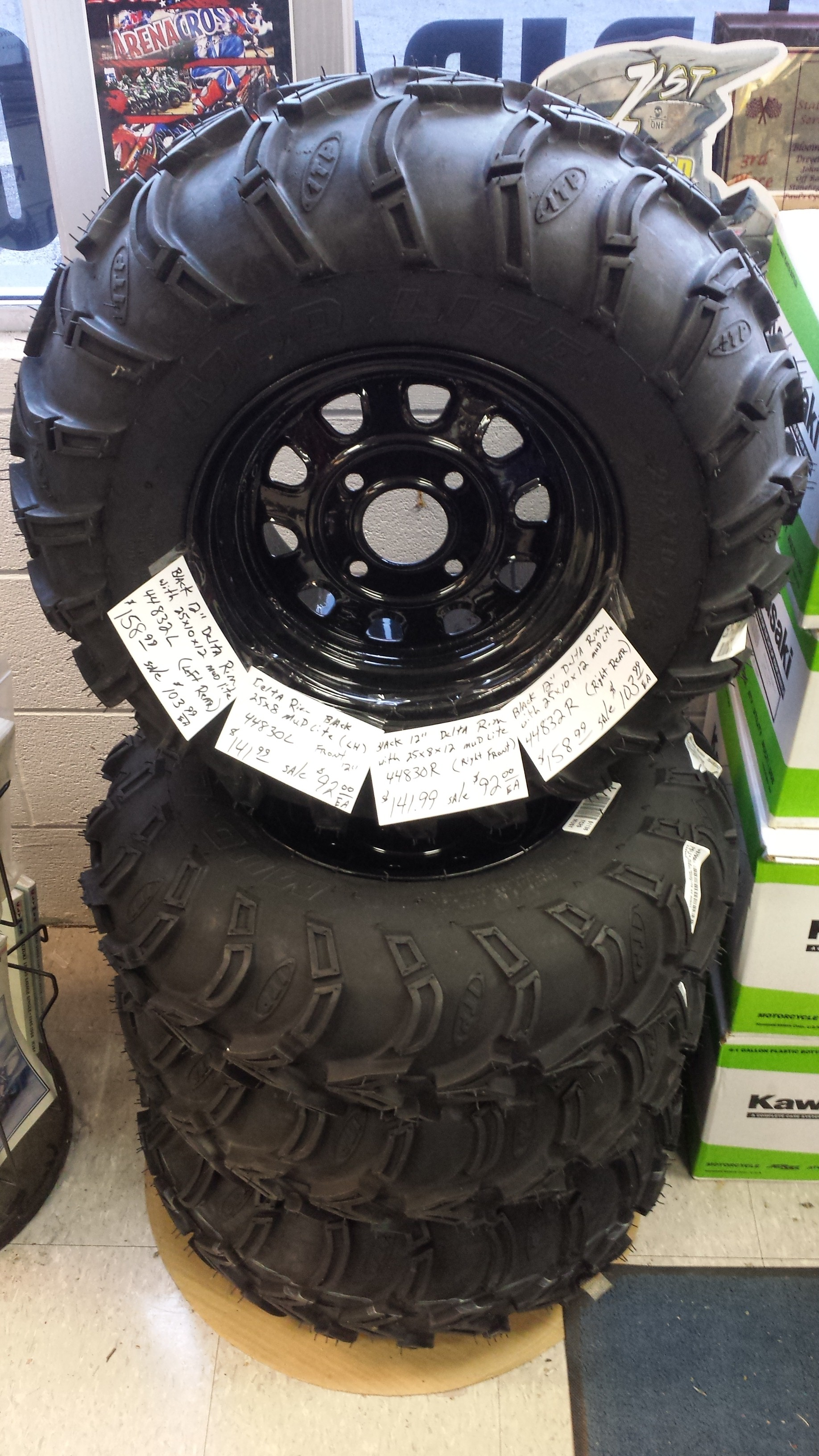 Delta Wheel and Tire Set