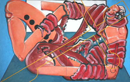 Untitled (self-portrait), 2014, Oil on canvas, 150 x 243 cm (diptych)