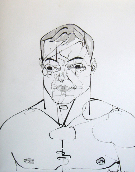 Untitled, 2012, Indian ink on paper, 37,5 x 30 cm