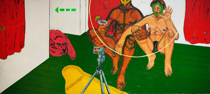 Untitled, 2009, Oil on canvas, 120 x 270 cm