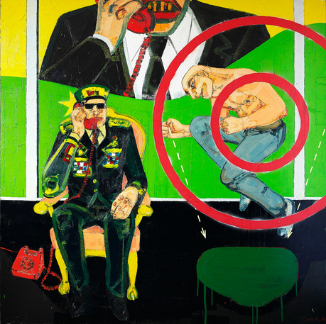Untitled, 2009, Oil on canvas, 200 x 200 cm
