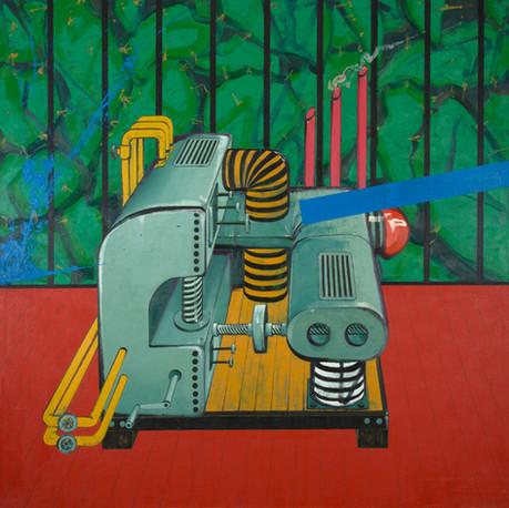 Postmodernism machine, 2013, Oil on canvas, 190 x 900 cm