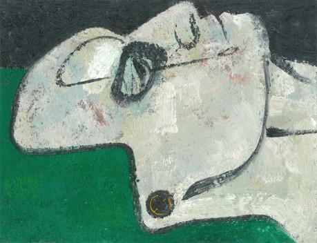 Untitled, 2016, Oil on cardboard, 27 x 35 cm