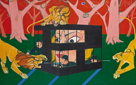 Building of civilization, 2012, Oil on canvas, 250 x 400 cm (diptych)