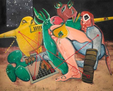Untitled, 2014, Oil on canvas, 200 x 250 cm