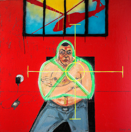 Untitled, 2008, Oil on canvas, 140 x 140 cm