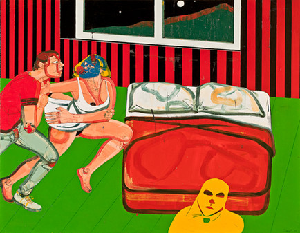 One Night Stand l, 2011, Oil on canvas, 170 x 216 cm