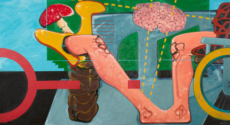 Untitled, 2014, Oil on canvas, 150 x 287 cm (diptych)