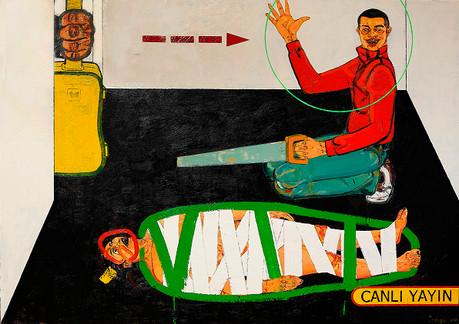 The Murder Of Münevver Karabulut, 2010, Oil on canvas, 200 x 280 cm (diptych)