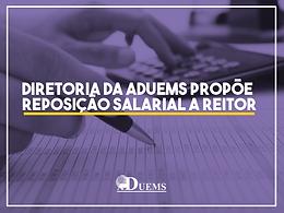 Diretoria da ADUEMS propõe reposição salarial a reitor