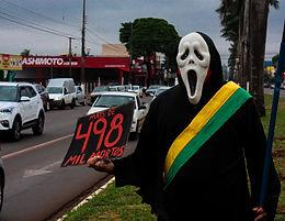 Protestos no sábado tiveram presença da Aduems