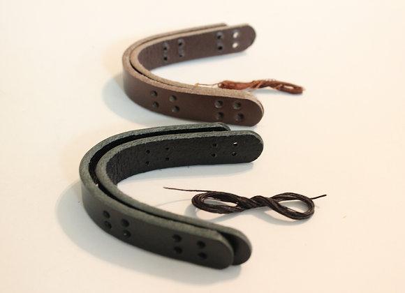 "5/8"" Leather Tabs - Sew On"