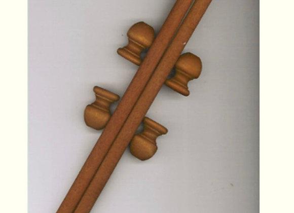 Wood Dowel and Finial set