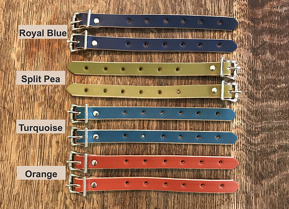 "8"" Bicycle Straps with Buckle - 5/8"" wide"