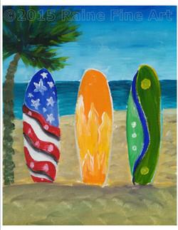 (C) surfboards