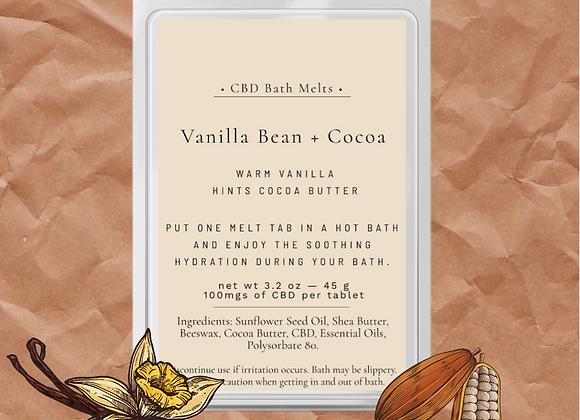 Vanilla Bean & Cocoa Bath Melts