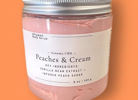 Peaches & Cream Whipped Sugar Scrub