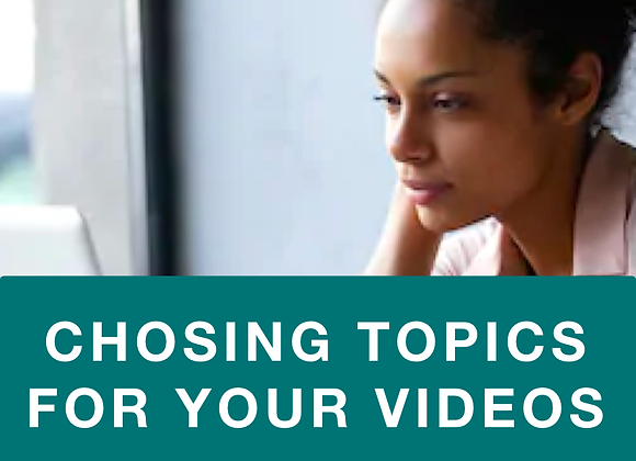[TRAINING] How to Choose Topics for Your Videos