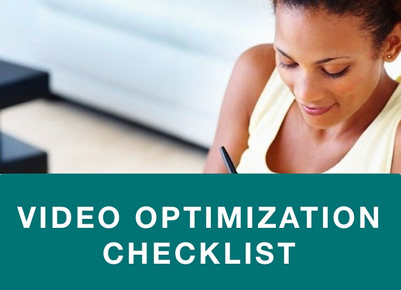 Video Optimization  Checklist