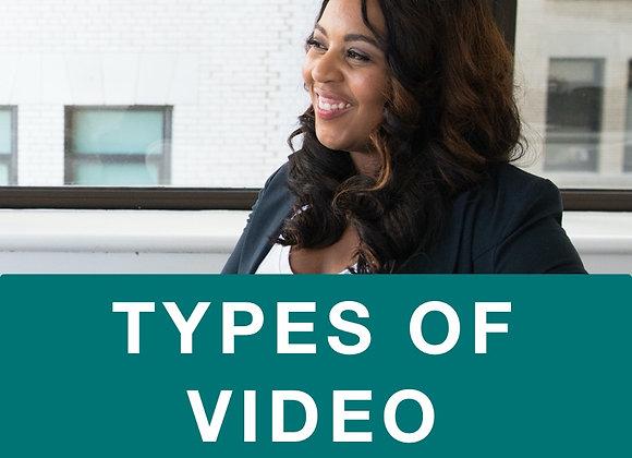 [TRAINING] Types of Video