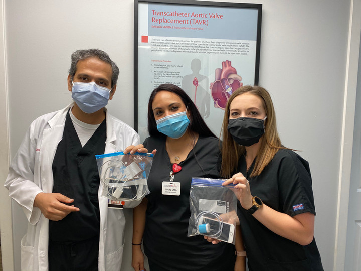 Orlando Cardiac and Vascular Specialists; that's Dr. Mondal with the CMA's!