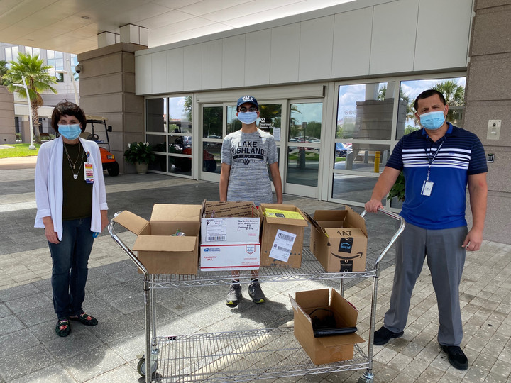 We donated 40 devices to the Lake Nona VA Medical Center in Orlando! The VA has begun the transition to telehealth, and are providing these tablets and smart-phones to their veterans in need!