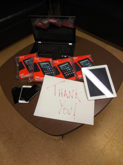 """We donated 12 devices to a women's shelter in DC! A quote from the shelter: """"The devices that we received from Telehealth have been such a resource as we have transitioned much of our programming online in order to support social distancing at our facility. Women without suitable devices have been able to complete online coursework, connect with doctors, attend meditation classes and even participate in playing bingo! Thanks so much for seeing a need and filling it so quickly! - Elaine Johnson, Calvary Women's Services"""""""