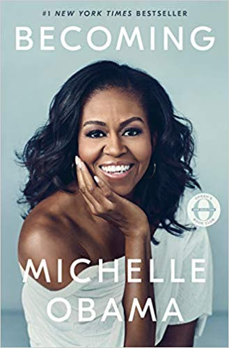 Cover of Becoming book by Michelle Obama