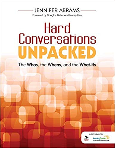 Cover of Hard Conversations Unpacked book by Jennifer Abrams