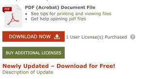 Newly Updated notice under Download Now