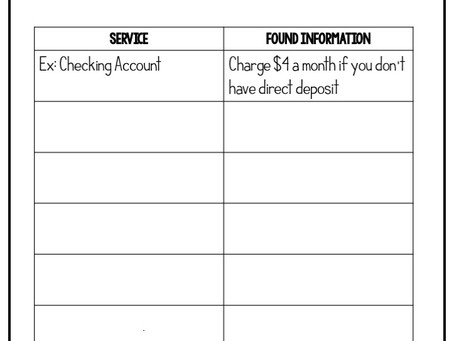 How to Teach About Bank Services