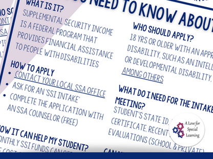 How to Explain SSI to Parents of Students with Intellectual and Developmental Disabilities