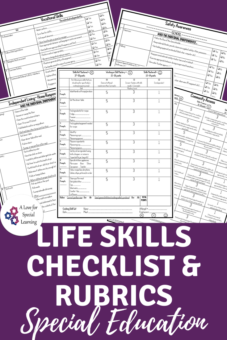 Purple picture of the rubrics and checklists