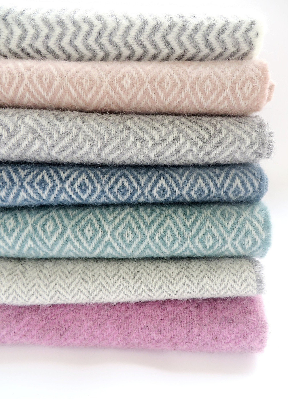 Stack of wool scarves