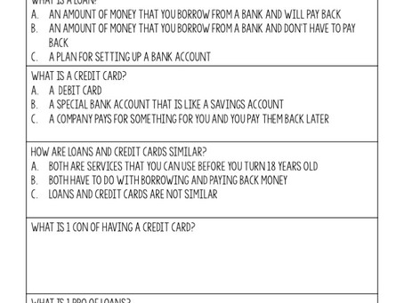 How to Teach about Loans and Credit Cards