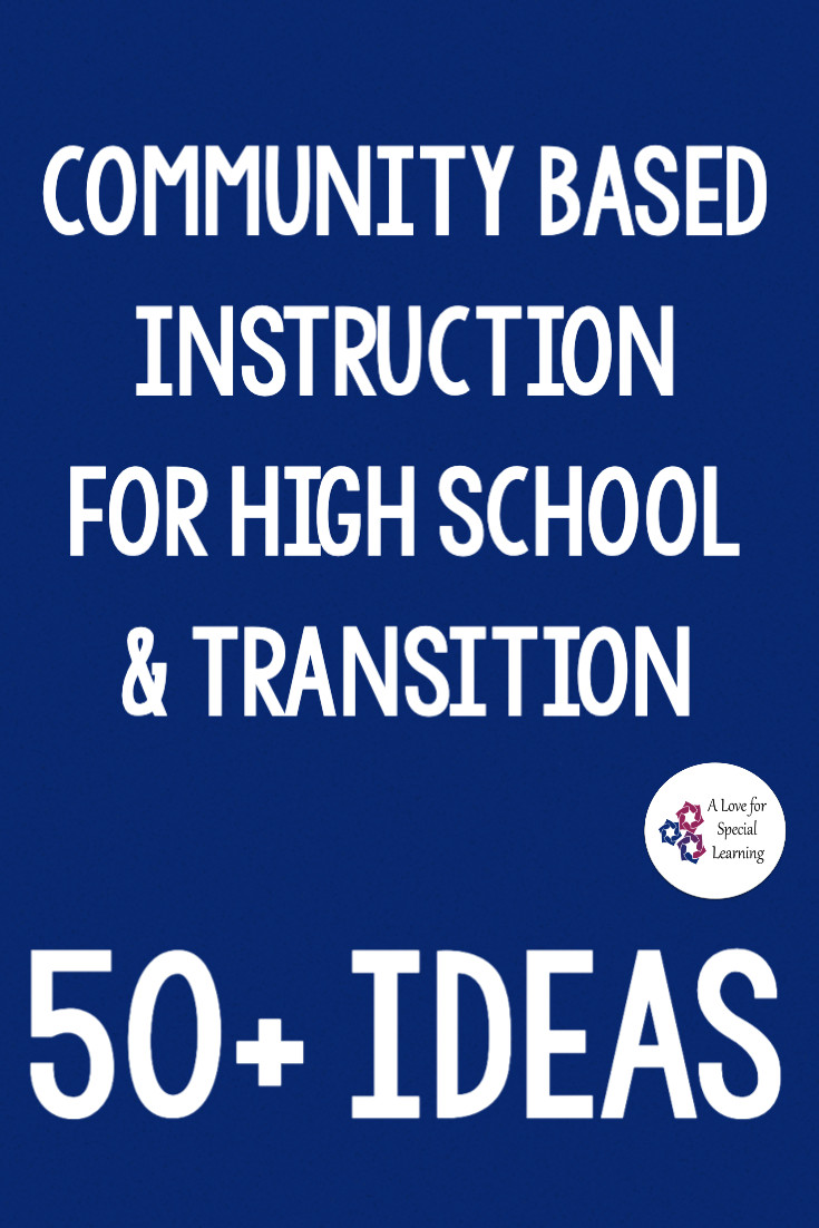 This blog post includes over 50 community based instruction ideas, activities, and trips for both high school and transition age special education students.  This list was created to help spark new ideas for teachers who teach life skills in the community.   Apply functional learning in real time situations with community based instruction field trips.  Community field trips support students in learning how to act, behavior, and react to situations and a long list of ideas is always helpful.