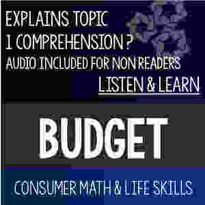 Blue and black cover of Budget Listen and Learn resource