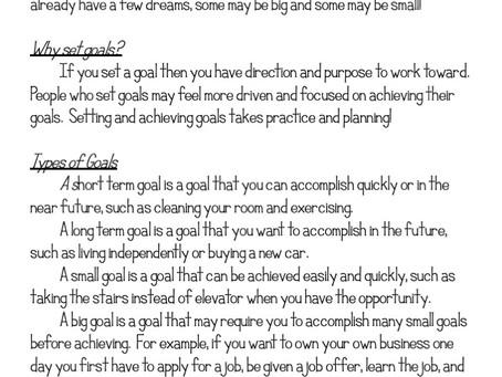 How to Teach Goal Setting