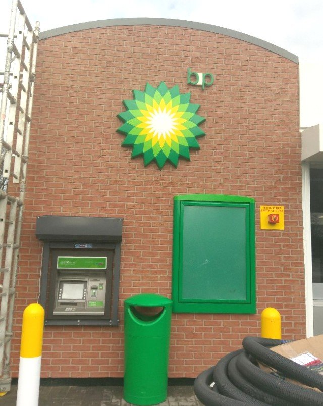 BP Service Station - ATM & Signage - Fro