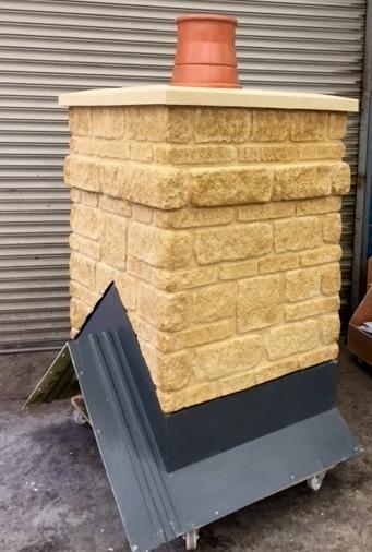 890mm sq Recon Stone - Single Pot - End