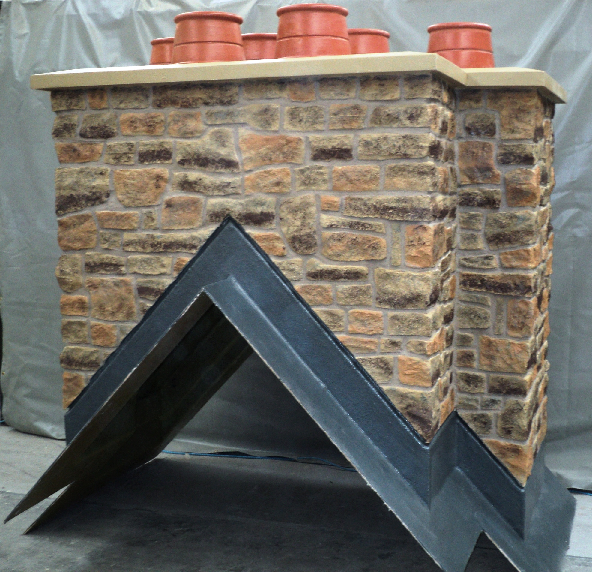 Natural Stone Bespoke with Short Pots