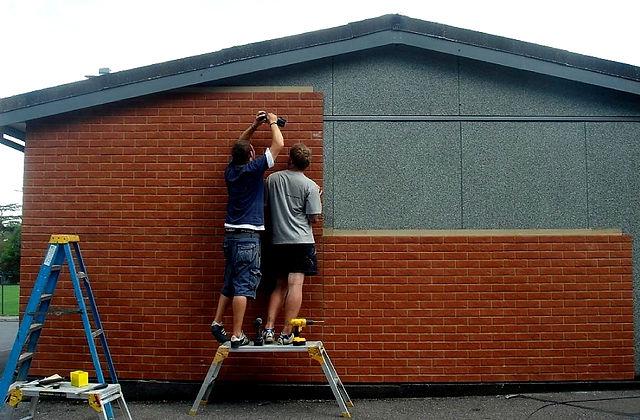 Brick Effect Cladding Installation
