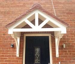 Open front canopy - In situe