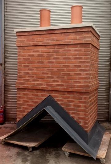 Bespoke Chimney with 450mm high pots_edi