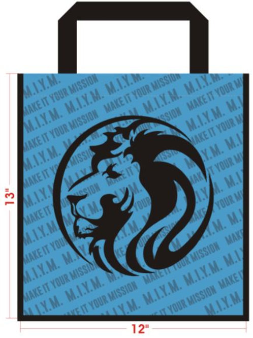 """FULL COLOR WIDE TOTE BAG WITH 8"""" GUSSET"""