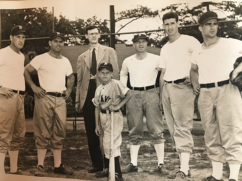 Group Photo of father, with Press Agent and Players